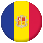 Andorra Country Flag 58mm Button Badge
